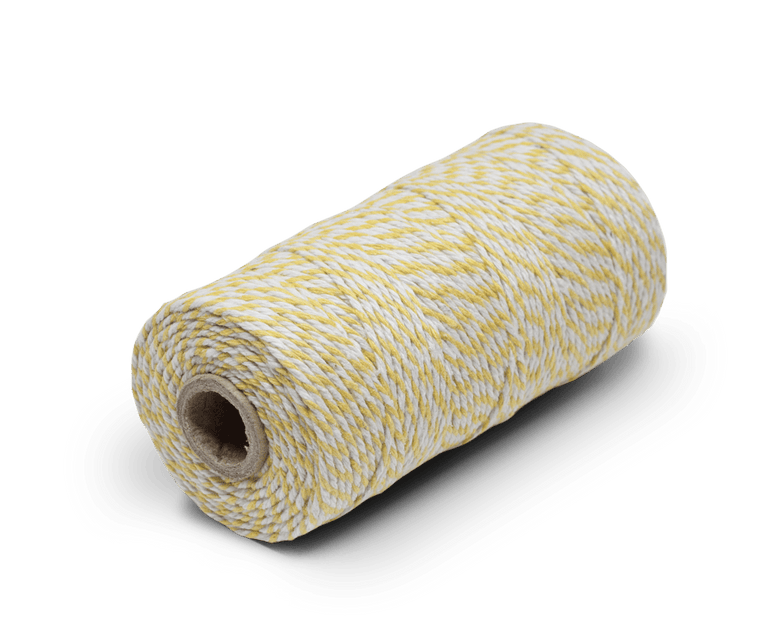 Bakers Twine 100% Cotton Yellow/White