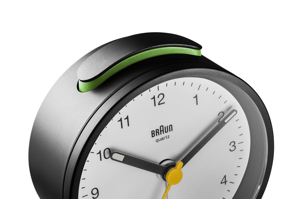 Braun Classic Analogue Quiet Alarm Clock. Compendium Design Store, Fremantle. AfterPay, ZipPay accepted.