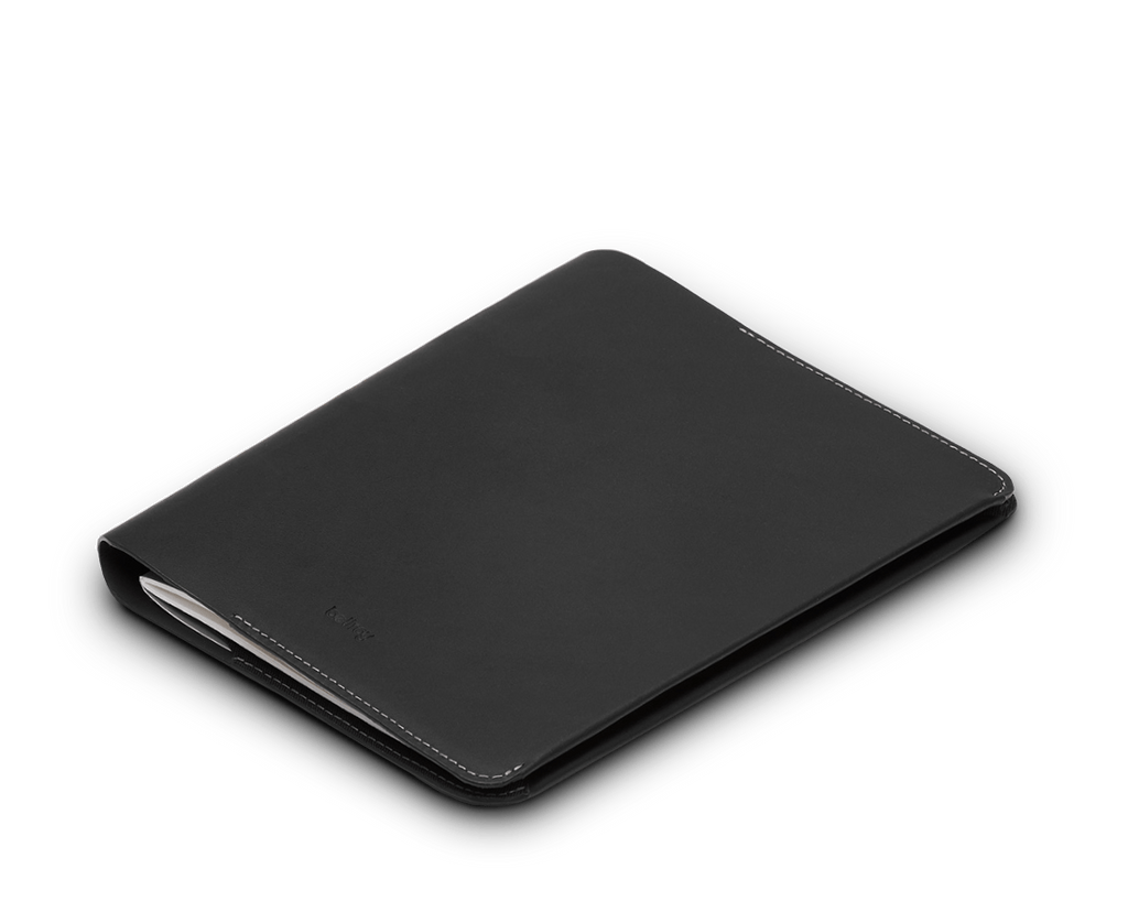 Bellroy Accessories Black Bellroy leather A5 Size Notebook Cover