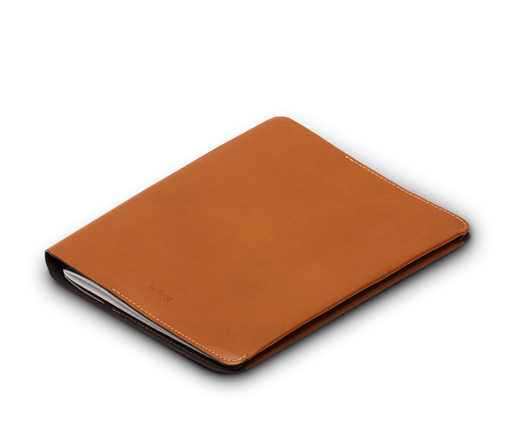 Bellroy Accessories Caramel Bellroy leather A5 Size Notebook Cover