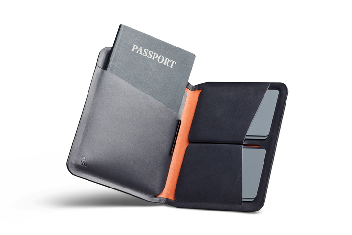 Bellroy Apex Passport Cover & Pen. Compendium Design Store, Fremantle. AfterPay, ZipPay accepted.