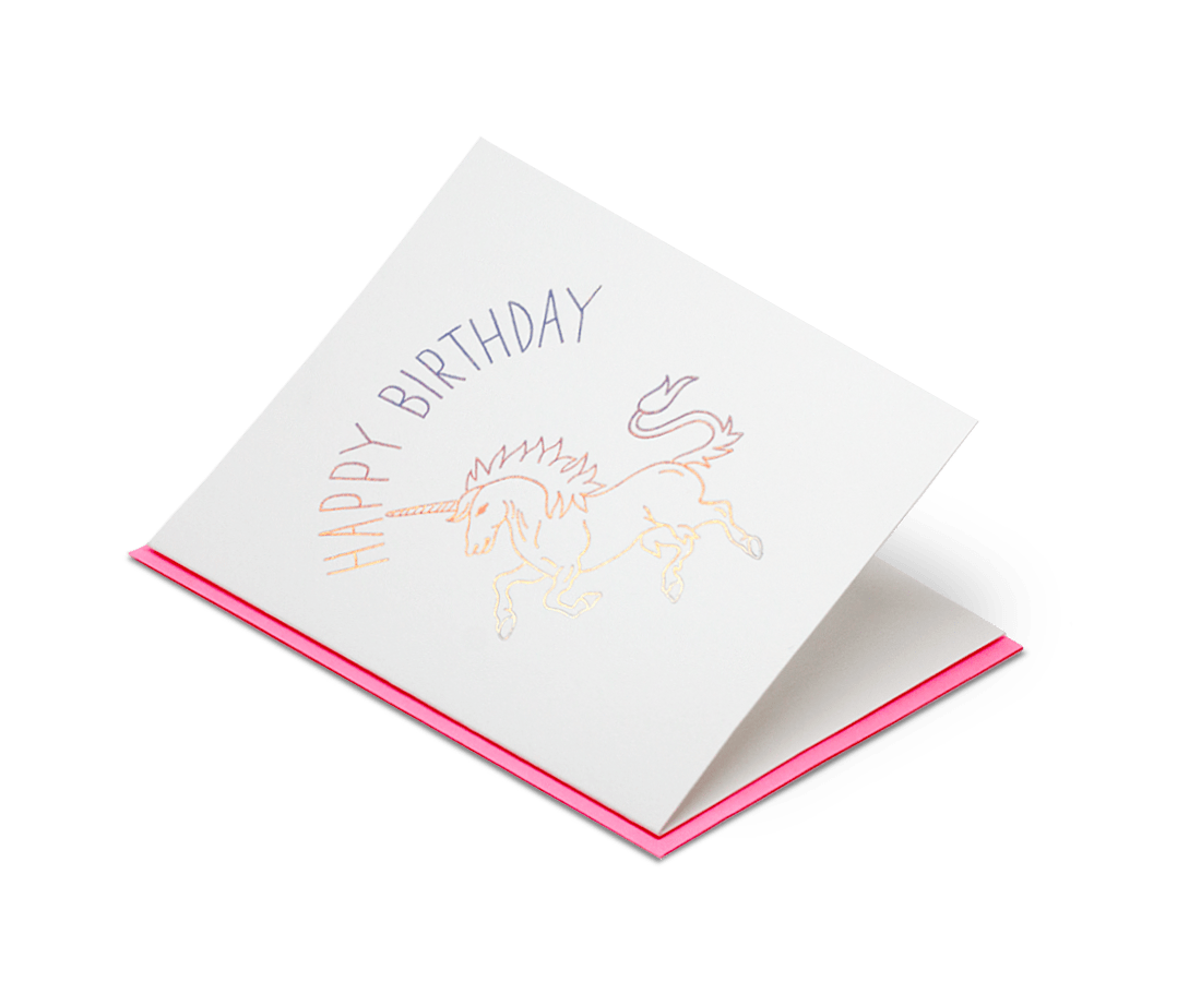Happy Birthday Unicorn. Ashkahn. Compendium Design Store. AfterPay, ZipPay accepted.
