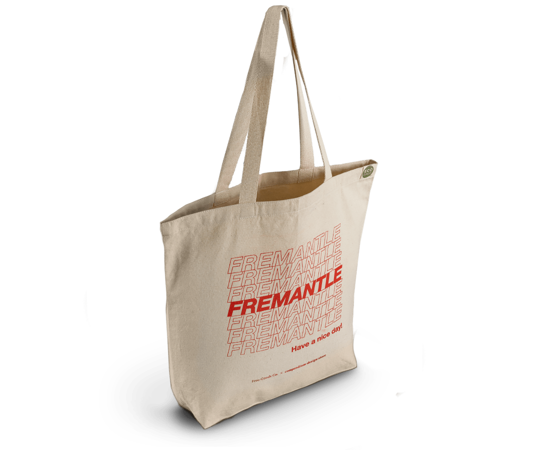 Fremantle, Have a Nice Day Tote Bag. Compendium Design Store, Fremantle. AfterPay, ZipPay accepted.