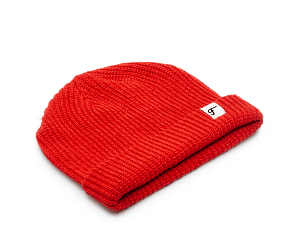 Freo Goods Co Mariner Beanie in Red. Compendium Design Store, Fremantle. AfterPay, ZipPay accepted.