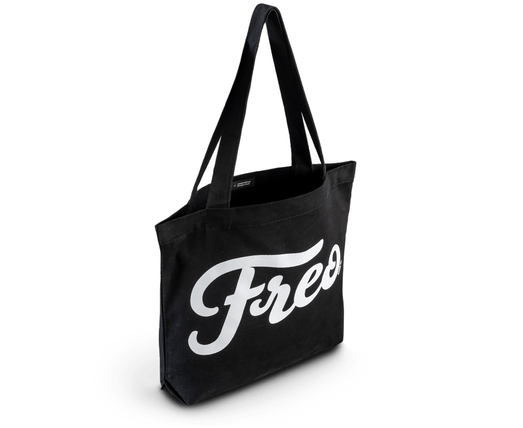 Freo Goods Co x C·D·S Tote Bag in Black. Compendium Design Store, Fremantle. AfterPay, ZipPay accepted.