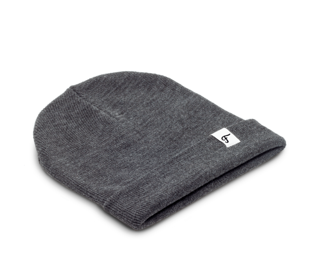 Freo Goods Co Winter Beanie in Charcoal. Compendium Design Store, Fremantle. AfterPay, ZipPay accepted.