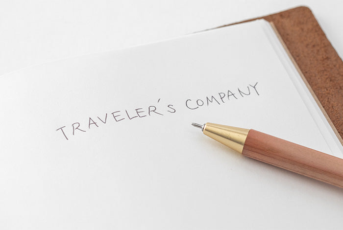 Travelers Company Japan Brass Ballpoint Pen Factory Green Edition. Compendium Design Store, Fremantle. AfterPay, ZipPay accepted.