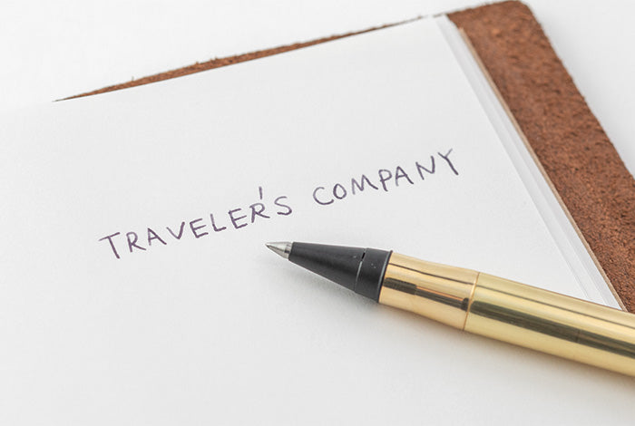Travelers Company Japan Brass Rollerball Pen. Compendium Design Store, Fremantle. AfterPay, ZipPay accepted.