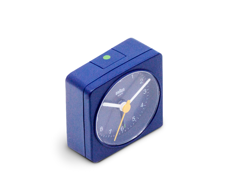 Braun Travel Alarm Clock in Blue BC02BL