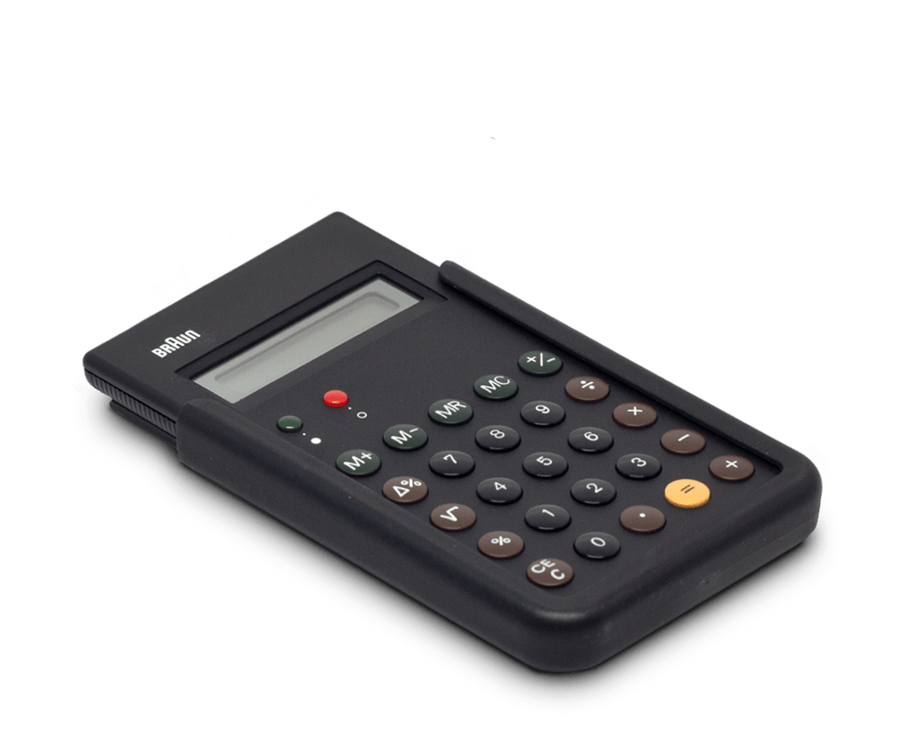 The ET66 in Black Calculator by Braun. Dieter Rams and Dietrich Lubs.