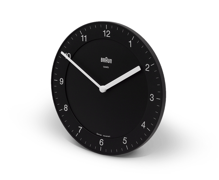 Braun Wall Clock in Black