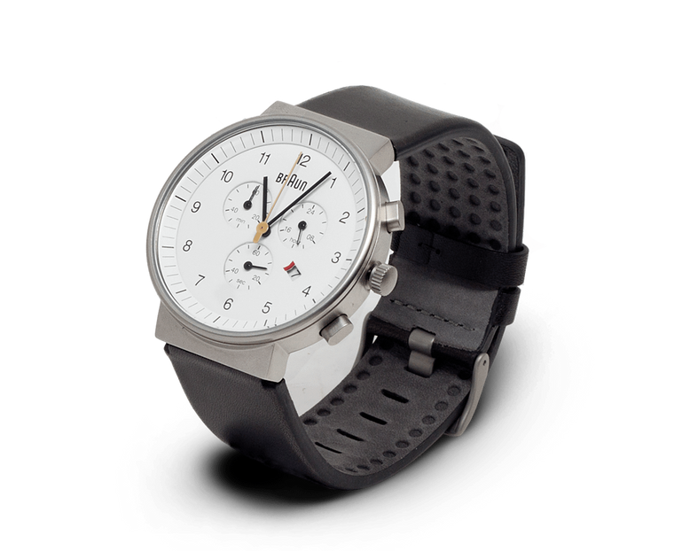 Braun Classic Chronograph watch in White with Stainless Steel