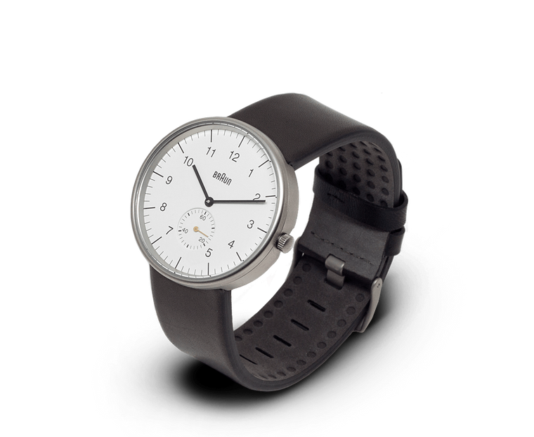 Braun Classic watch in White, Stainless Steel & Black