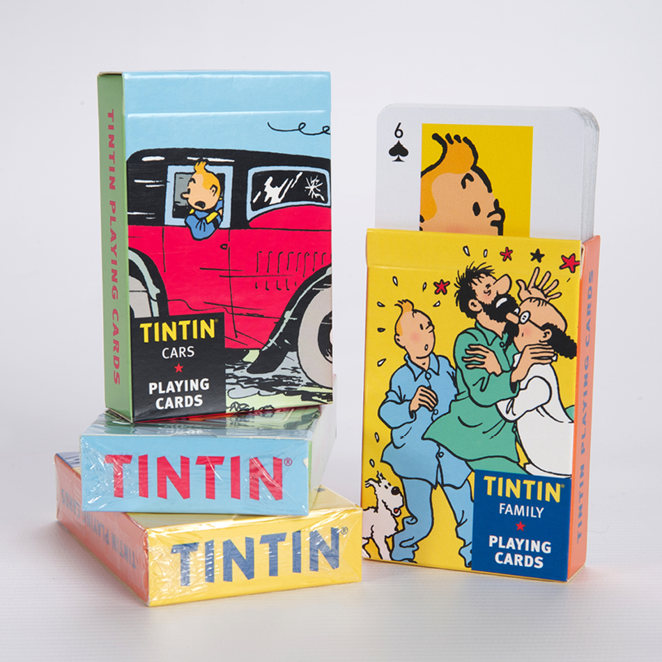Tintin Playing Cards 'Cars'. Compendium Design Store, Fremantle. AfterPay, ZipPay accepted.