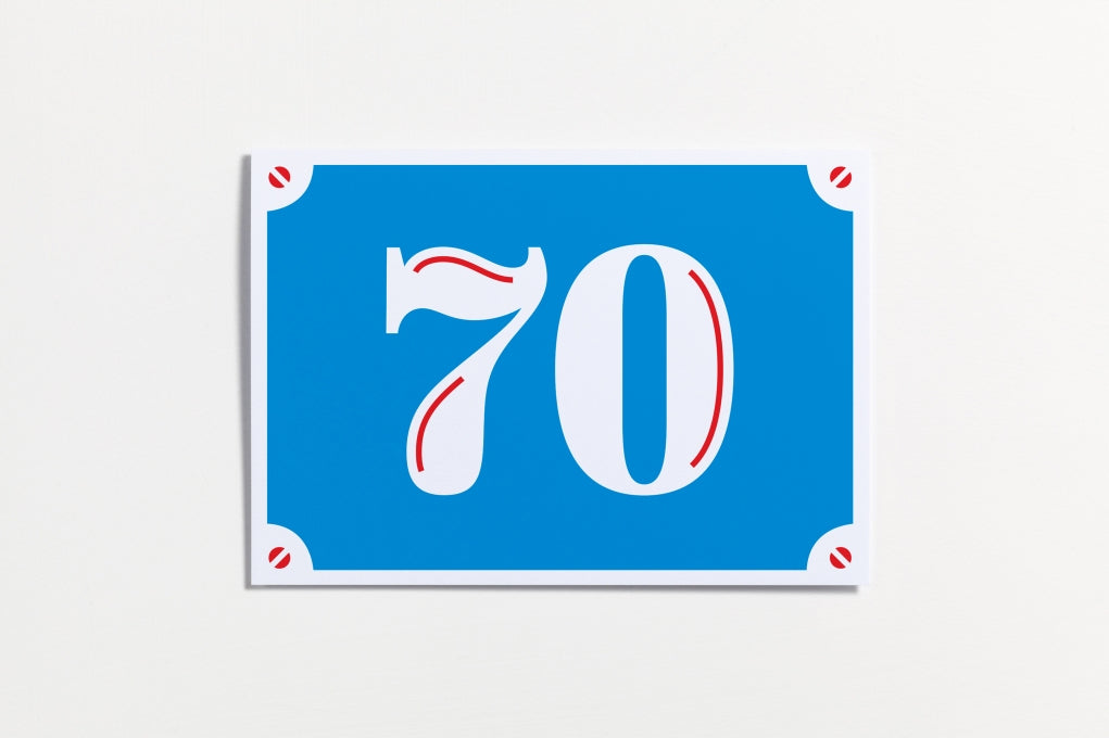 70th Birthday Card. Compendium Design Store, Fremantle. AfterPay, ZipPay accepted.