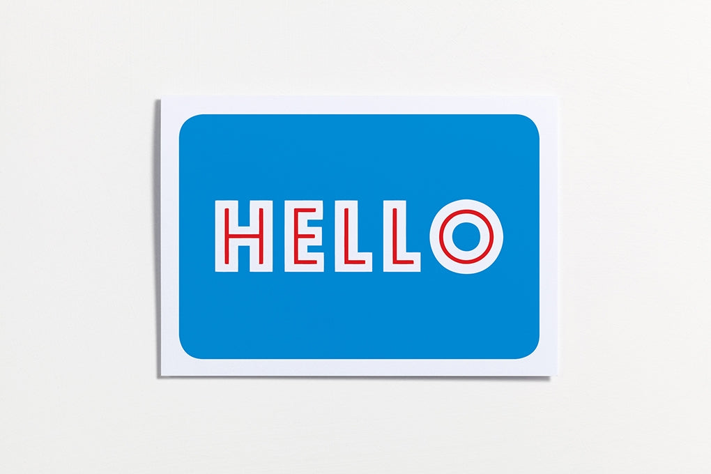 Hello Greeting Card. Compendium Design Store, Fremantle. AfterPay, ZipPay accepted.