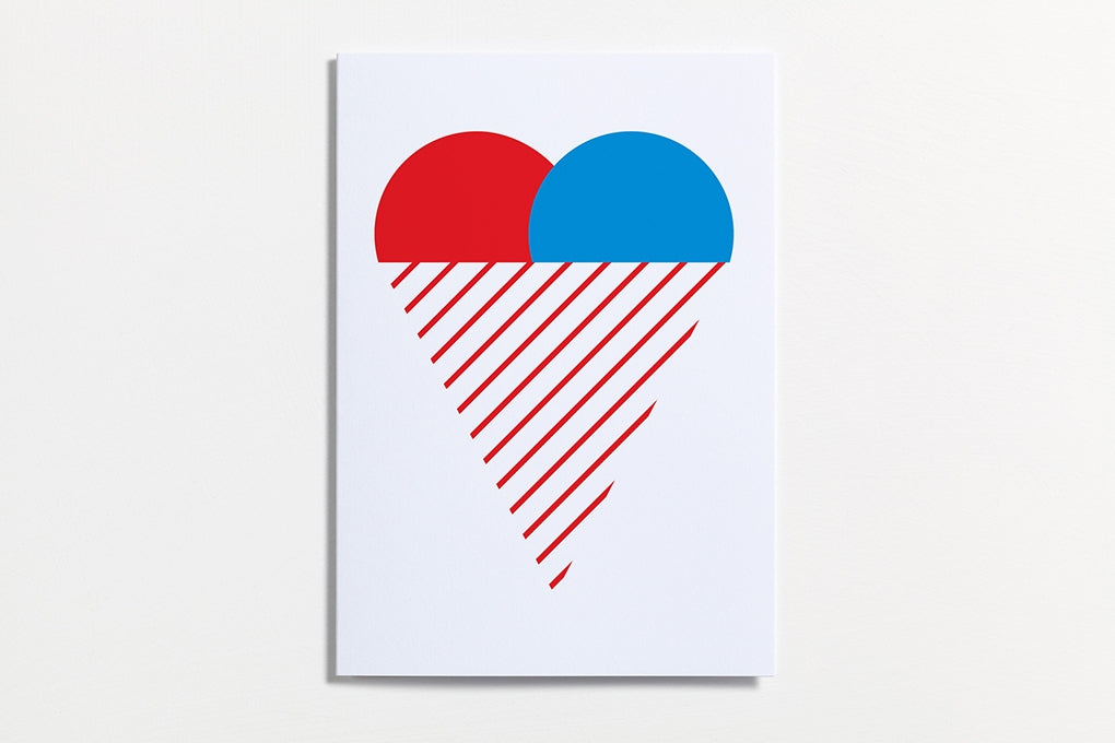 Heart Ice Cream Greeting Card