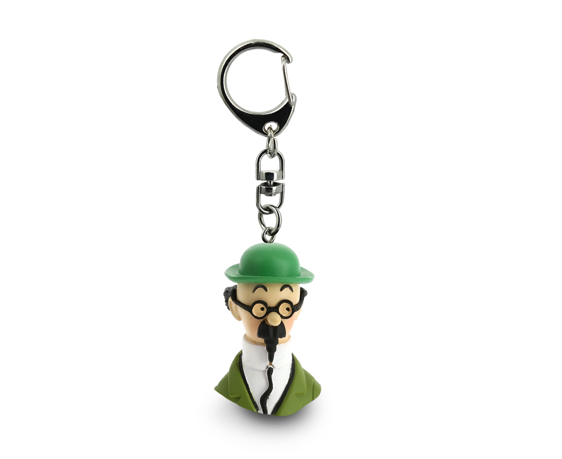 Calculus Bust Keyring. Moulinsart. Compendium Design Store. AfterPay, ZipPay accepted.