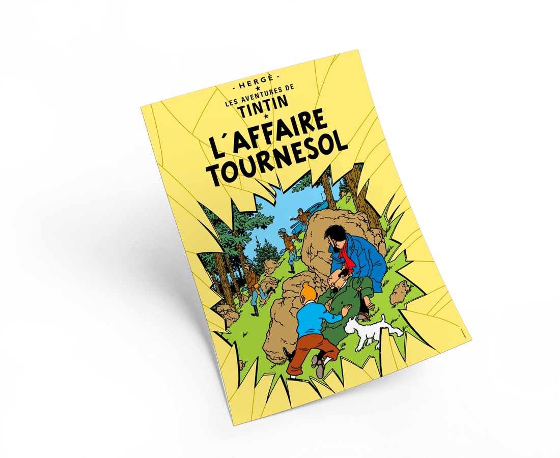 The Adventures of Tintin: L'Affaire Tournesol Poster in French. 50x70cm. Compendium Design Store, Fremantle. AfterPay, ZipPay accepted.