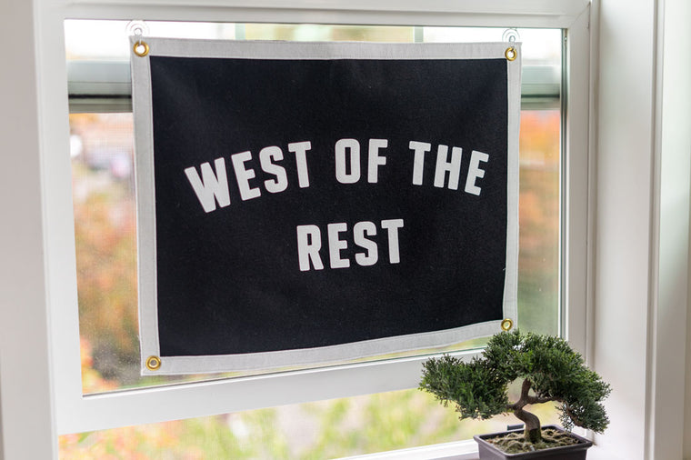 Freo Goods Co 'West Of The Rest' Camp Flag