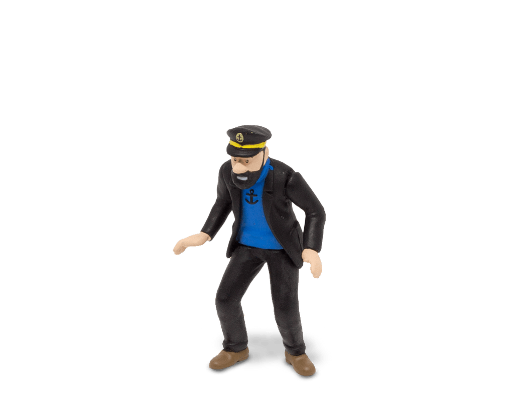 Captain Haddock In The Rally (Large) PVC Figurine 9cm. Compendium Design Store, Fremantle. AfterPay, ZipPay accepted.