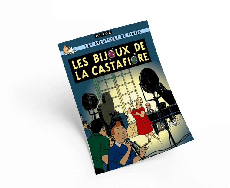 The Adventures of Tintin: Les Bijoux De La Castafiore Poster in French. 50x70cm