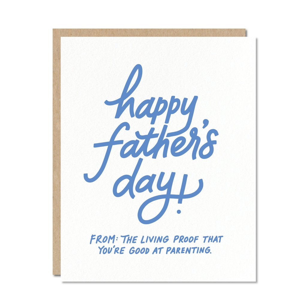 Happy Father's Day - Living Proof. Compendium Design Store, Fremantle. AfterPay, ZipPay accepted.