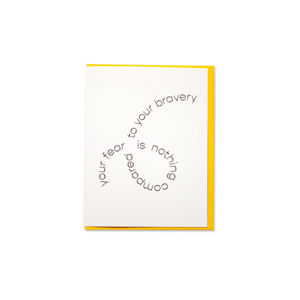 Bravery Greeting Card. Compendium Design Store, Fremantle. AfterPay, ZipPay accepted.