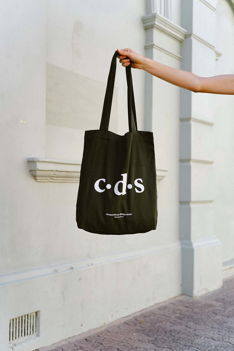 Compendium Design Store  'C·D·S' Tote Bag in Army Green