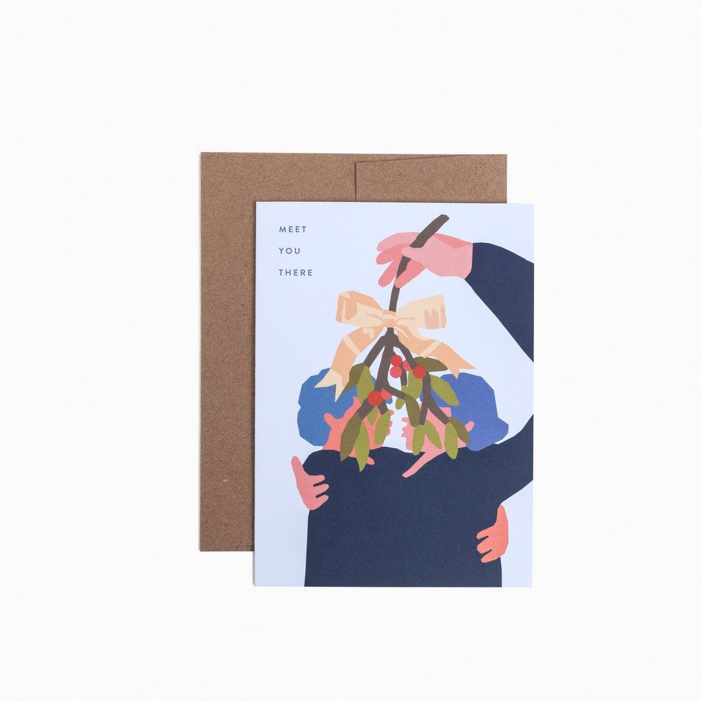 Mistletoe Kiss Card. Compendium Design Store, Fremantle. AfterPay, ZipPay accepted.