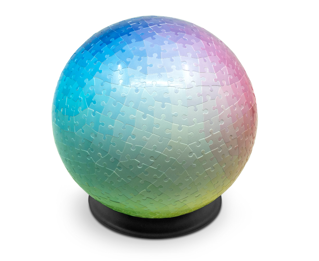 540 Colours 3D Sphere Puzzle by Clemens Habicht. Compendium Design Store, Fremantle. AfterPay, ZipPay accepted.