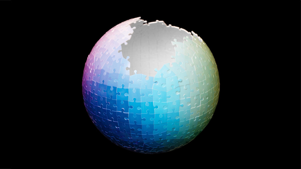 540 Colours 3D Sphere Puzzle by Clemens Habicht