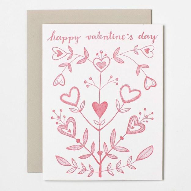 Happy Valentine's Day. Card. Sycamore Street Press.. Compendium Design Store, Fremantle. AfterPay, ZipPay accepted.