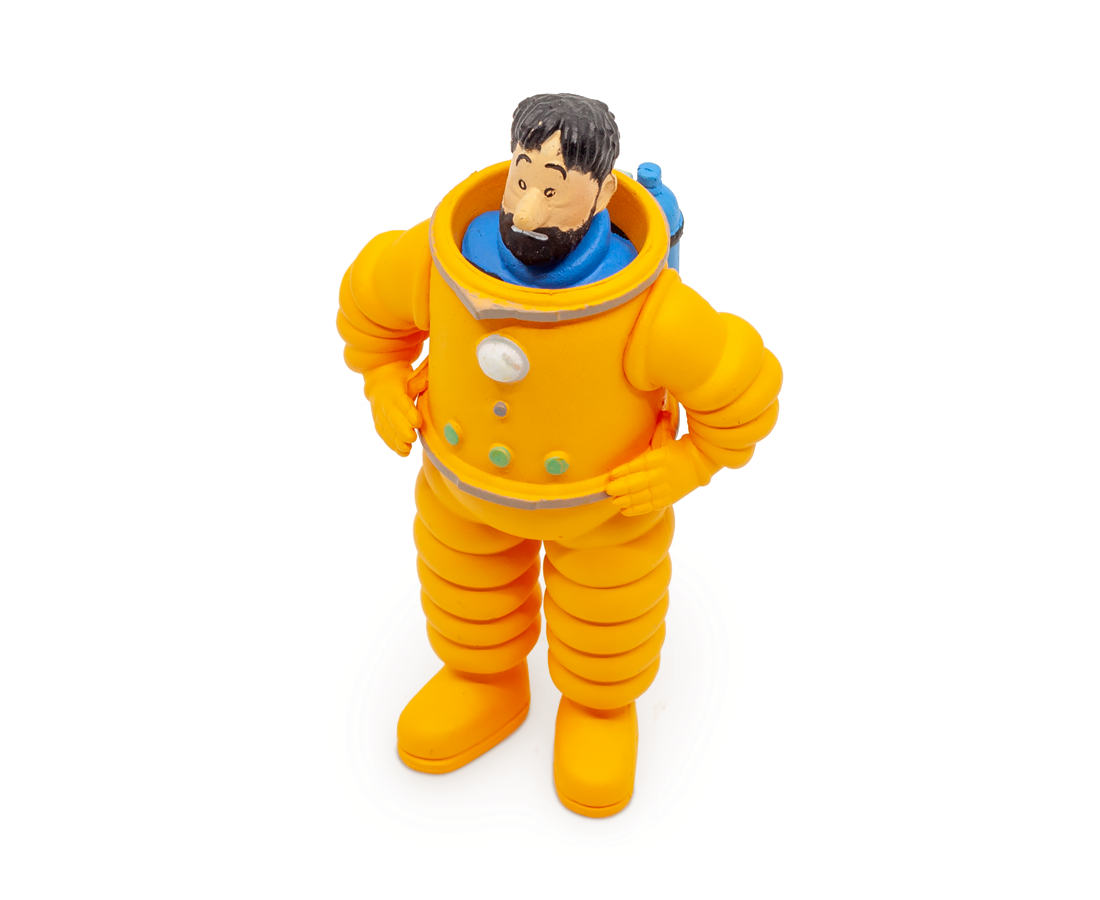Captain Haddock Cosmonaute PVC Figurine. Compendium Design Store, Fremantle. AfterPay, ZipPay accepted.