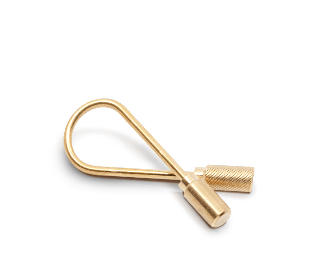 Closed Helix Keyring in Brass