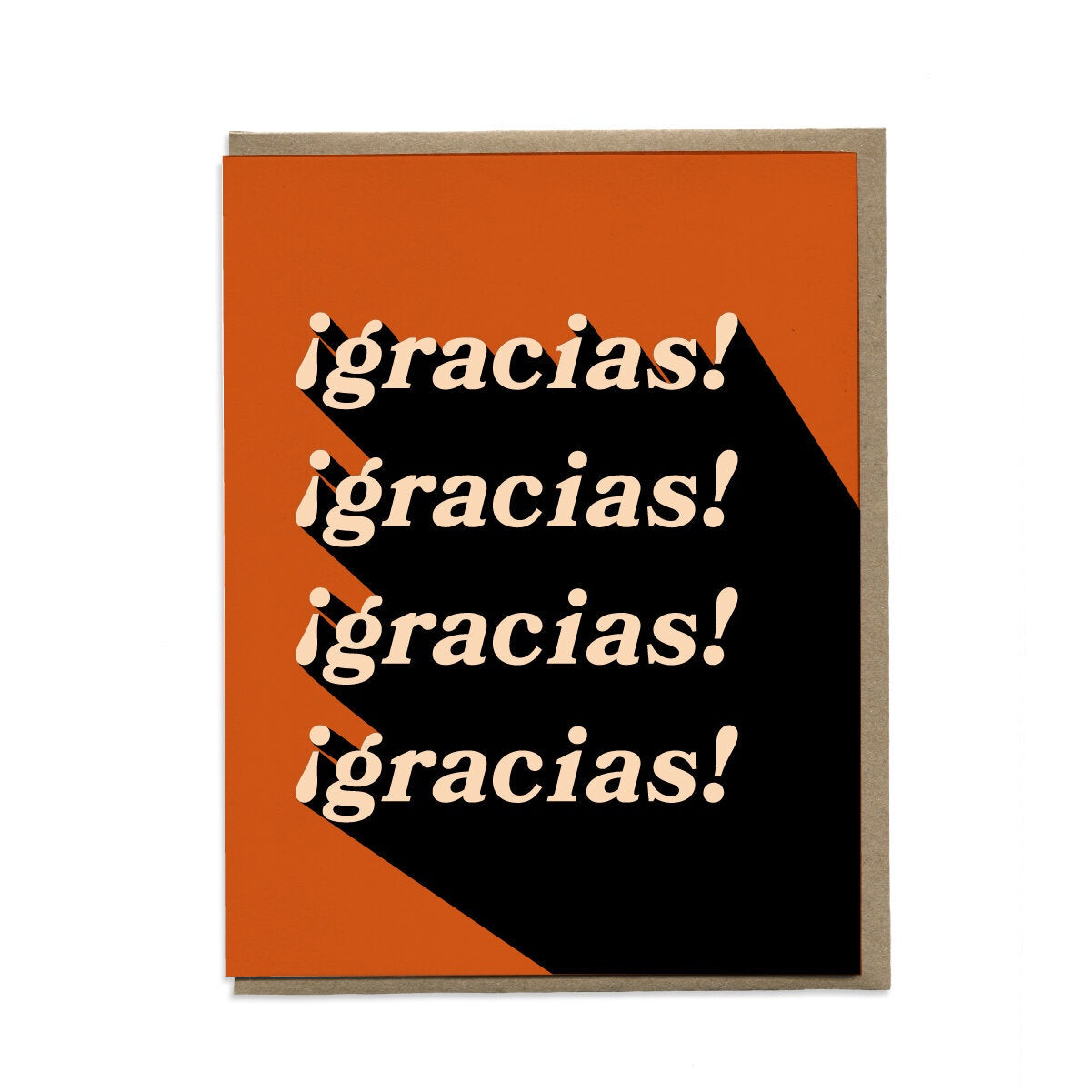 Gracias! Greeting Card. Compendium Design Store, Fremantle. AfterPay, ZipPay accepted.