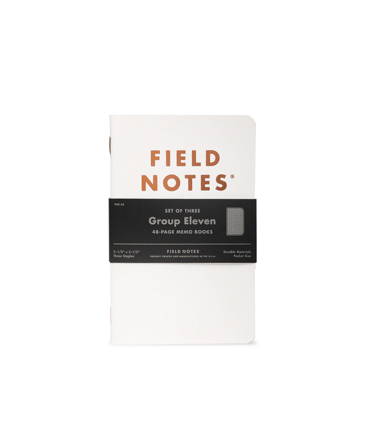 Field Notes Notebooks 'Group Eleven' Winter 2019 Edition · 3-Pack (Dot-Graph Paper)