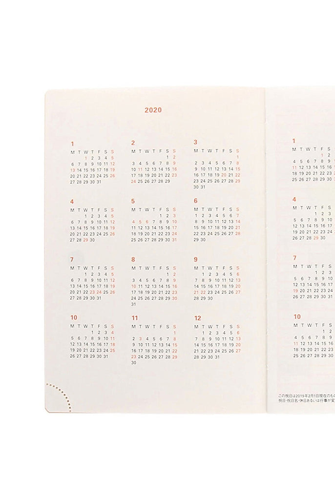 Delfonics 2020 Diary A6 Linen - Weekly + Notes