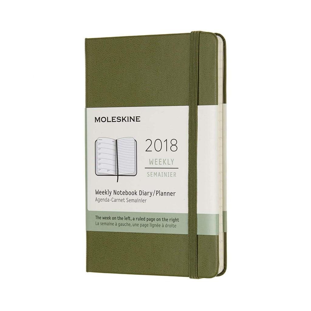 Moleskine 2018 Hard Cover Diary Weekly Notebook Pocket