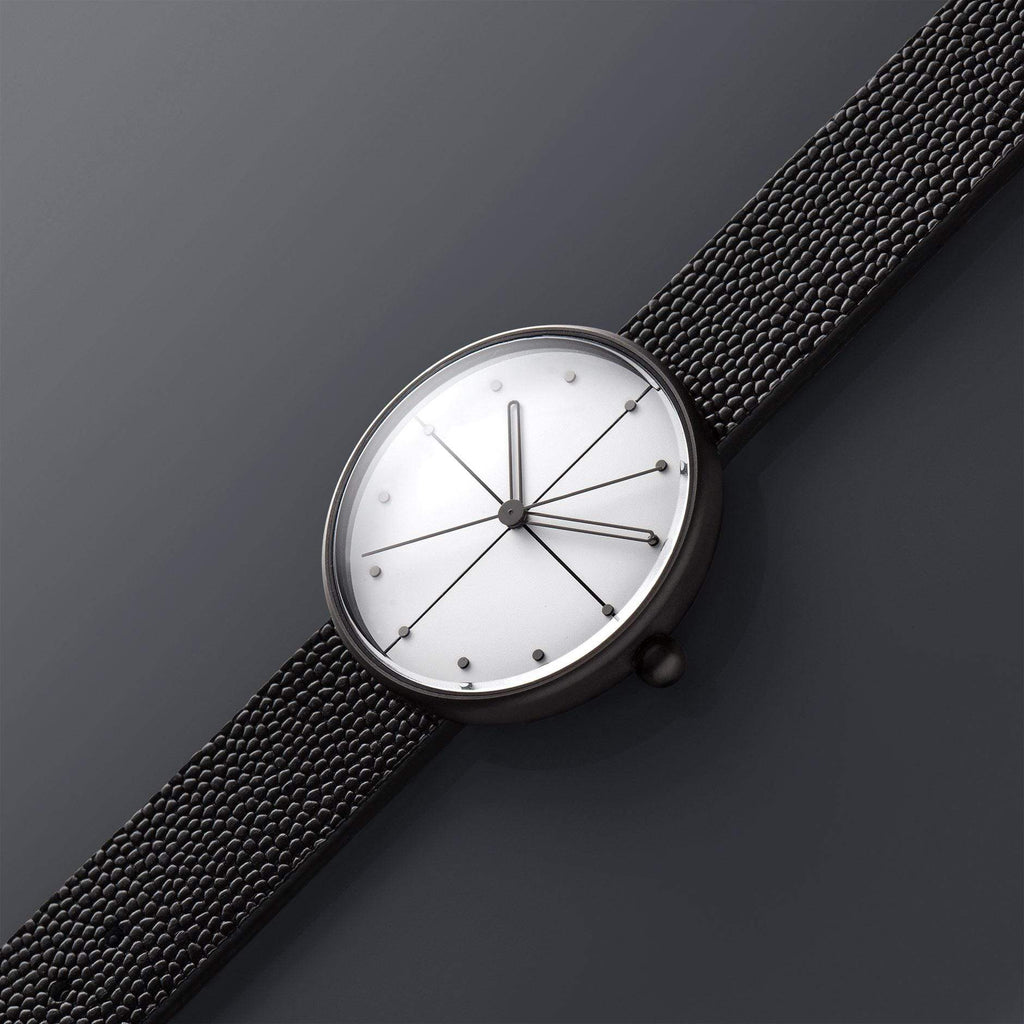 Aark Collective Dome Unisex Watch in Black & White. Compendium Design Store, Fremantle. AfterPay, ZipPay accepted.