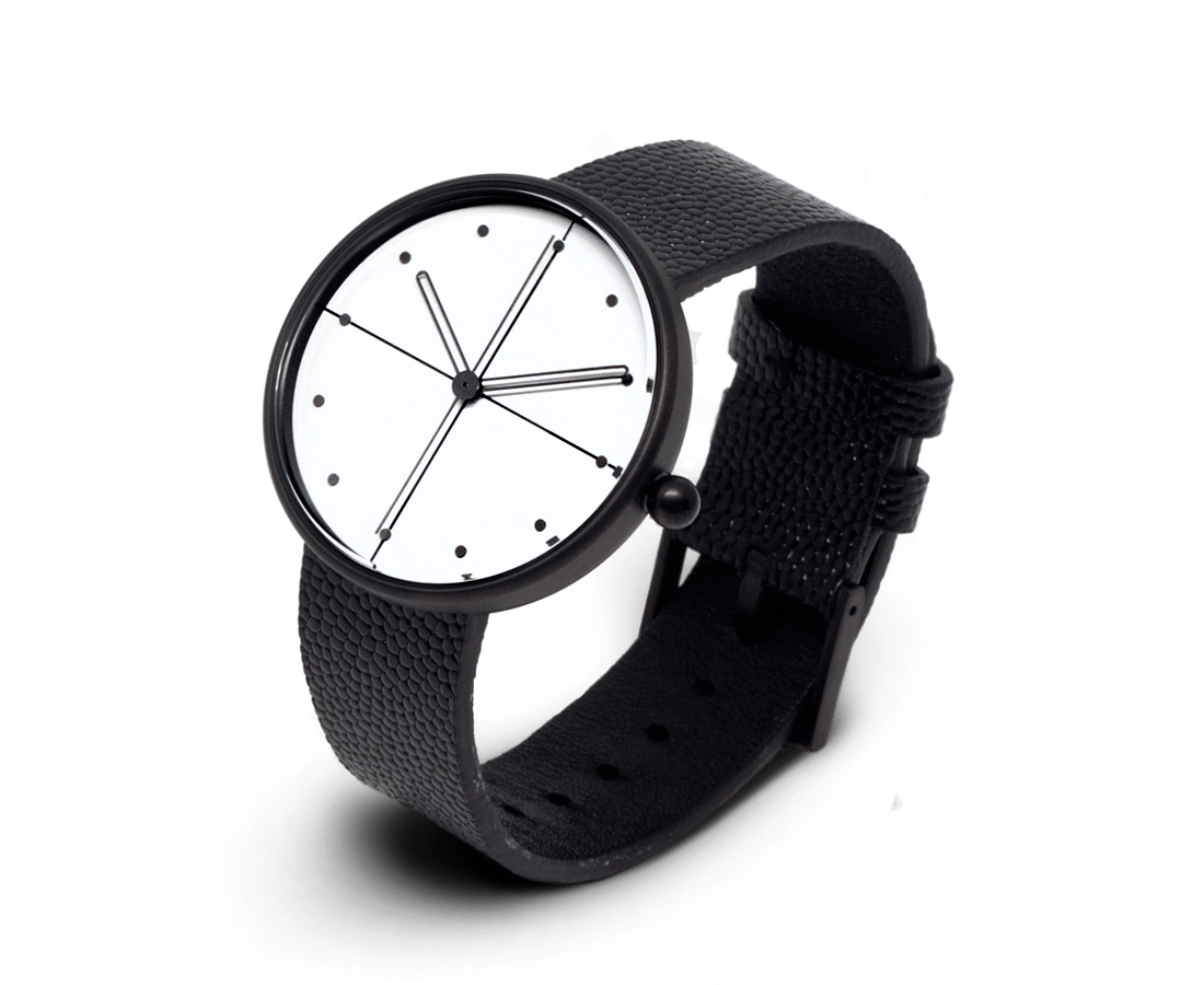 Aark Collective Dome unisex watch in Black & White.Compendium Design Store, Fremantle. AfterPay.