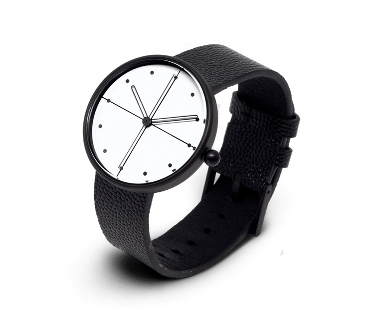 Aark Collective Dome unisex watch in Black & White
