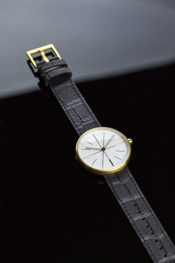Aark Collective Dome Unisex Watch in Gold & Black. Compendium Design Store, Fremantle. AfterPay, ZipPay accepted.