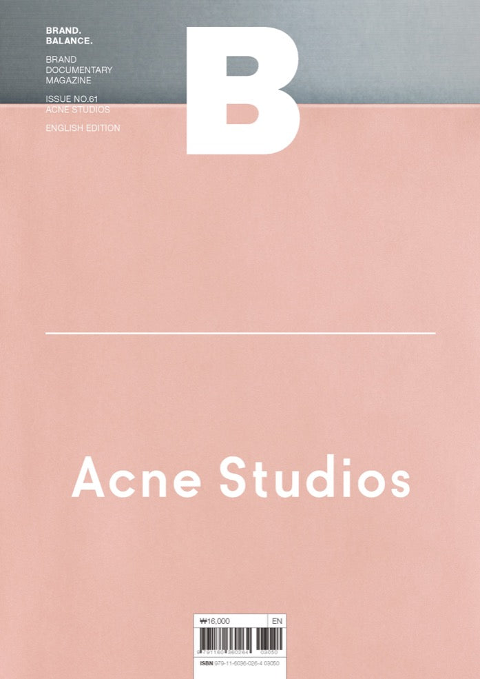 Brand Documentary Magazine No 61 Acne Studios. Magazine B. Compendium Design Store. AfterPay, ZipPay accepted.