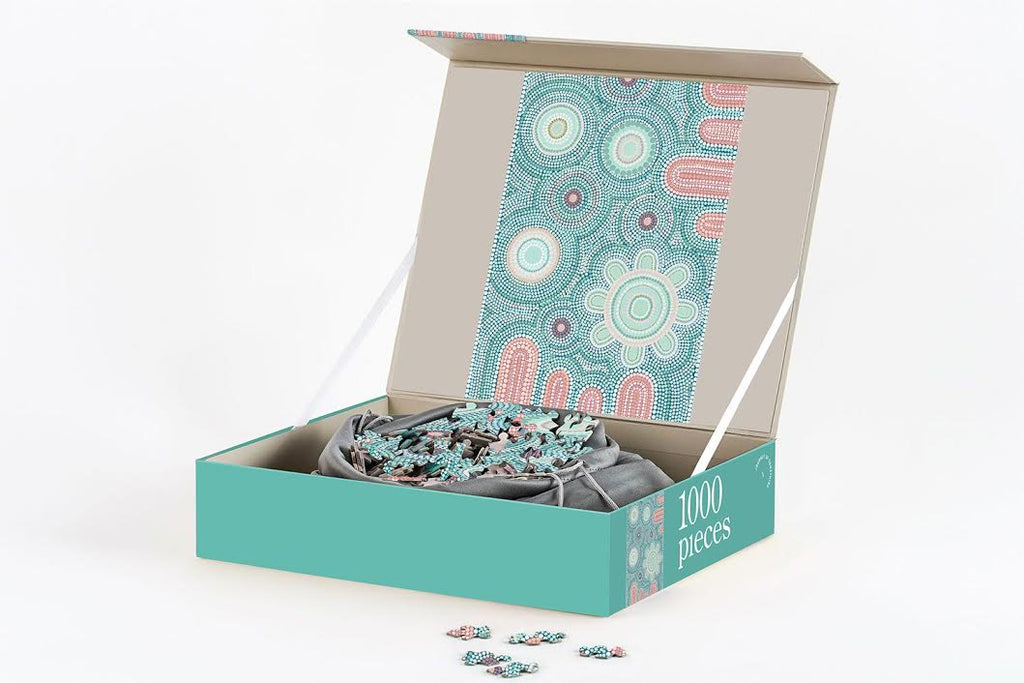 Journey of Something Giwaa-Yubaa 1000 Piece Puzzle. Compendium Design Store, Fremantle. AfterPay, ZipPay accepted.