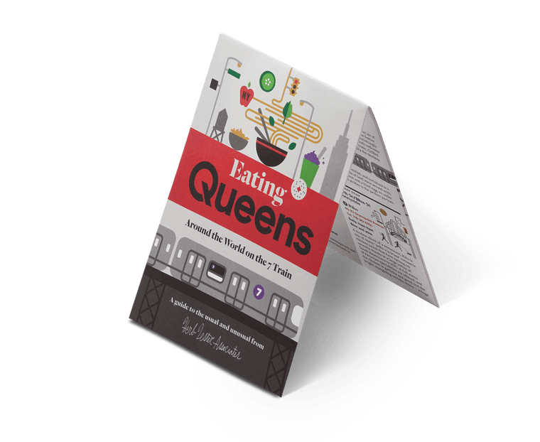 Eating Queens. City Guide & Map by Herb Lester