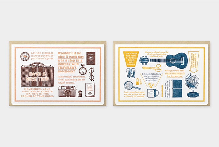 Travelers Company Japan Ltd Ed. 'Travel Tools' · Letterpress Card. Compendium Design Store, Fremantle. AfterPay, ZipPay accepted.