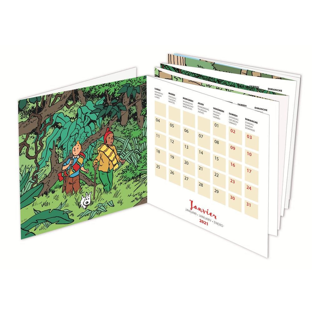 2021 Tintin Desk Calendar. Compendium Design Store, Fremantle. AfterPay, ZipPay accepted.