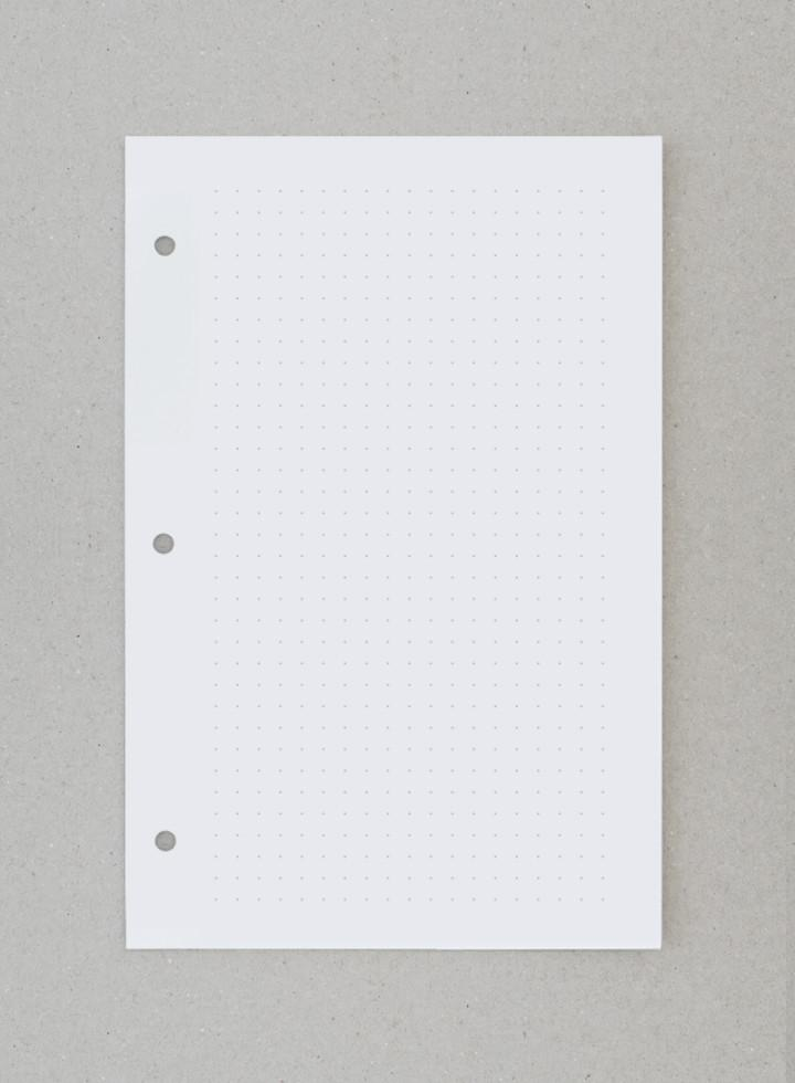 Supply Paper Co · Everyday binder dot grid insert in white