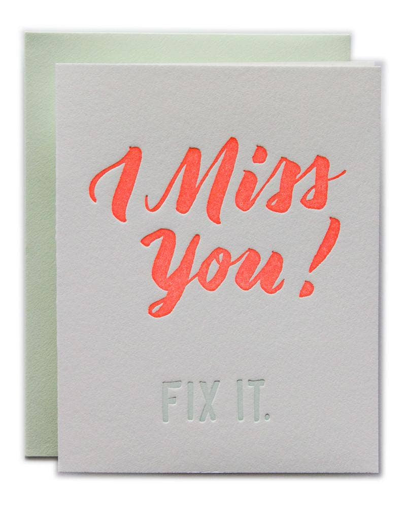 I Miss You! Fix It.. Compendium Design Store, Fremantle. AfterPay, ZipPay accepted.